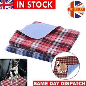 Waterproof Dog Mattress Protector Non-Slip Puppy Potty Training Pads Washable UK