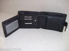 Pierre Cardin Italian Leather Billfold Mens Wallet (pc8874) Black