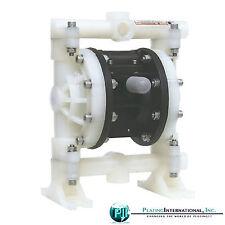 "Double Diaphragm Air Pump Chemical Industrial Polypropylene 1/2 or 3/4"" NPT"