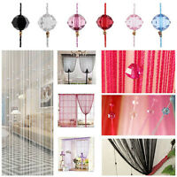 Room Door Window Beads Crystal String Curtain Tasssel  Wall Panel Fringe Divider