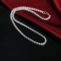 Solid silver 925 chain heavy men women necklace Jewelry fashion wedding N053