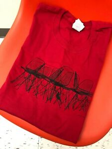 Eames Wire Chair & Bird T-Shirt Red