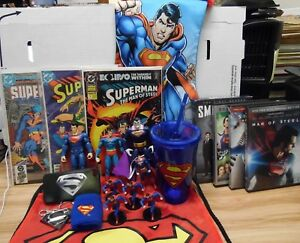 Superman Lot of 21 Misc items DVDs Comics Figures and More 051718DBT5