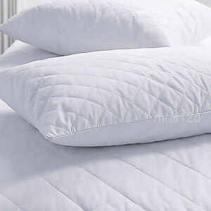 Quilted pillow protector - Twin Pack - Standard Size - Zipper Closure