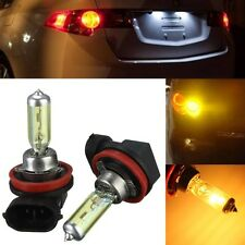 2x H11 55W 3000k Golden Yellow Xenon HID Halogen Light Fog Lamp Bulb Headlight