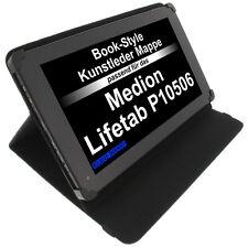 Tasche für Medion Lifetab P10506 Book Style Schutzhülle Tablet Case Schwarz
