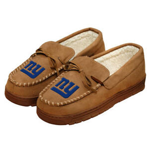 New York Giants NFL Men's Logo Moccasin Slippers Size XL (13/14) - NWT