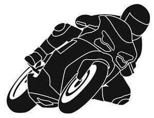 Motorrad Auto Aufkleber Ducati 1098 1198 Motorradfahrer Schräglage