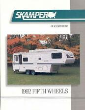 1992 Skamper Fifth Wheel Travel Trailer Brochure r1755-39J3MC