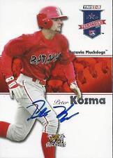 Pete Kozma St. Louis Cardinals 2008 TriStar Projections Signed Card