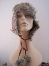 Nine West  Womens Faux Fur Trappers Aviator Hat Ear Warmers Strap NW5900467 $38