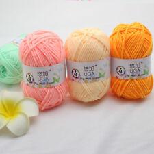 New UGA 42 colors Soft Knitting wool Crochet 4 Ply Baby Milk Cotton fiber Yarn