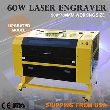 Premium 60W CO2 Laser Engraver Cutting Machine w/ USB Interface Crafting