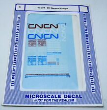 Microscale Decals N #60-234 Canadian National CN General Freight