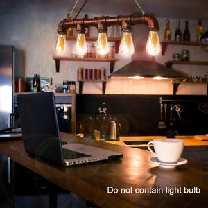 Industrial Wasserrohr Hängelampe Pendelleuchte Retro Rohr Vintage E27 Cafe Bar