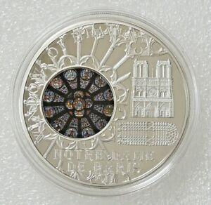 2011 Windows of Heaven $10 Notre Dame De Paris 50 grams Silver Coin 2K Minted