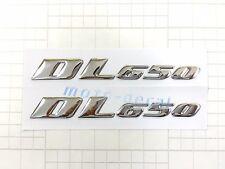 New Raised 3D Chrome Suzuki V-Strom DL650 Emblem Decal Bling Fairing Sticker