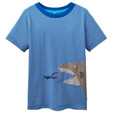 Joules Boys' Striped 100% Cotton T-Shirts & Tops (2-16 Years)