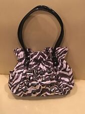 $99 NWOT New Kathy Van Zeeland PYRAMID PARADISE Belt Shopper Bag Purse Zebra