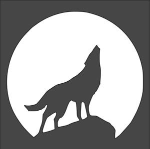 1- 5.5x5.5 inch Custom Cut Stencil, (TA-9) Wolf