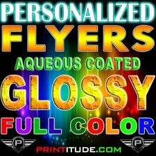 10,000 CUSTOM PRINTED 8.5x11 PERSONALIZED FLYERS Full Color Gloss 2 side 10000