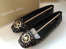 Michael Kors Fulton Mk Logo Jacquard Flat Ballet Pump Shoes BNIB SZ Uk 5 US 7