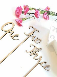 Wooden Table Numbers, Freestanding Table Numbers,Wedding Table Numbers On Sticks