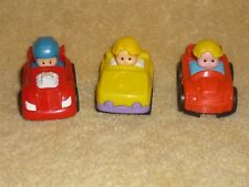 Fisher Price Little People Wheelies Car Boy Driver Lot: Red & Yellow