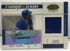 Andre Dawson 2003 Leaf Certified Materials Fabric of the Game Jersey Auto # 1/50