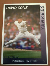 DAVID CONE NEW YORK YANKEES BASEBALL CARD 5/29/2019 SGA PERFECT GAME