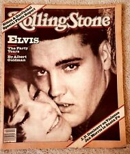 Elvis Presley-Rolling Stone magazine cover (1981) Blondie article