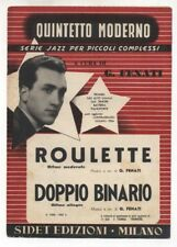 Spartito GIOVANNI FENATI Roulette - Doppio binario 1953 Sheet music serie Jazz