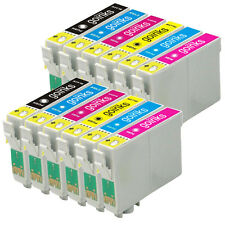 12 Ink Cartridges (Set) for Epson Stylus Photo R220 R320 R350 RX500 RX640
