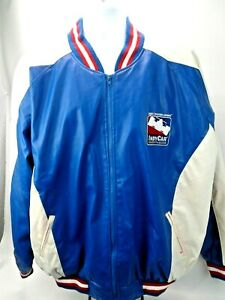 Indianapolis Motor Speedway Licensed Indy Racing Jacket White Blue XXL Full Zip