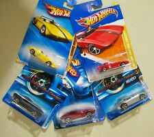 5 cars Hot Wheels Ford Shelby GR-1 Concept & 62 Mustang Concept Red Yellow Black