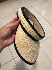Ladies Women Summer Sun Visor Beach Hat Long Brim Straw Cap AU