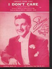 I Don't Care 1952 Liberace Sheet Music