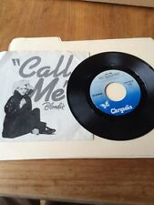 BLONDIE Call Me / Instrumental ROCK 45 American Gigolo Playboy Bunny New Wave