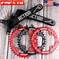 32-52T 104BCD 170mm Crankset Round Oval Single Chainring MTB Bike Crank Sprocket