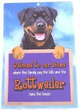Rottweiler Welcome 3d Sign Great Christmas Stocking Filler
