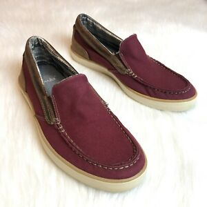 Clarks Hommes Mens Size 8.5 Leather Slip On Casual Loafer