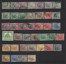 Federated Malay States. Collection of 39 stamps, 1900 to 1929, Used.