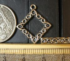 #75, Jewelry Making Findings Pewter Diamond toggle clasp #25, bag of 5 clasps