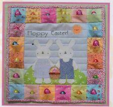 PATTERN - Hoppy Easter - fun applique wall quilt PATTERN - Two Brown Birds
