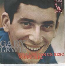 """GARY LEWIS 7""""PS Spain 1968 Sealed with a kiss / Young girl"""