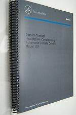 Mercedes 450SL 560SL 380SL Owners Service Manual Air Conditioning W107 280sl