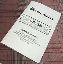 Midland 79-290 AM/SSB CB Radio Owners//Instruction Manual