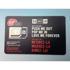 Virgin Mobile 3 IN 1 (STD - MICRO - NANO) sim card, carte sim