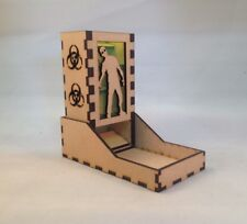 Zombie Dice Tower Neon Green Acrylic Window Laser Cut MDF v1