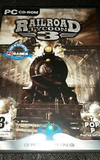 Railroad Tycoon 3 PC Game Video/Windows/Simulation/Train/Engine/Wall/Chart/NEW